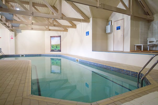 Tropical heated indoor swimming pool