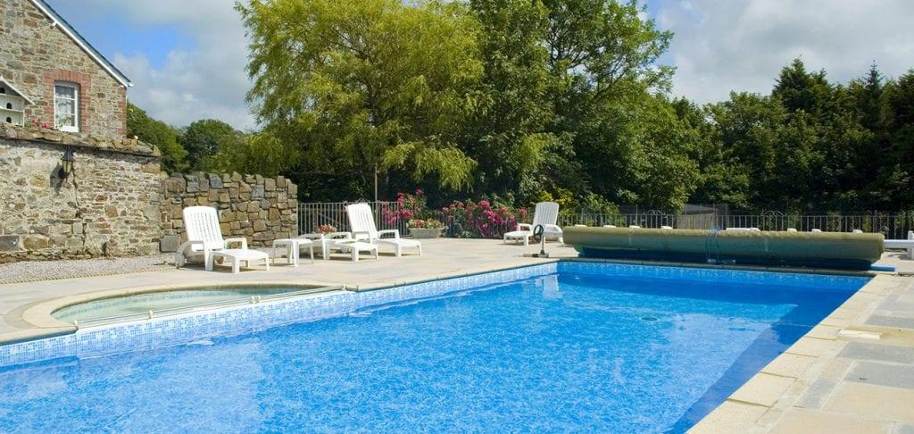 Broomhill Manor's heated outdoor pool