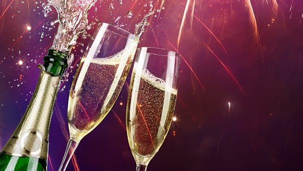 Champagne at New Year