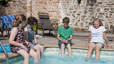 Outdoor Pool at Broomhill Manor Luxury Cottages, Bude, Cornwall