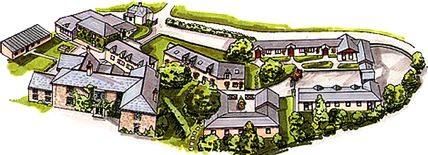 Broomhill Manor cottage layout